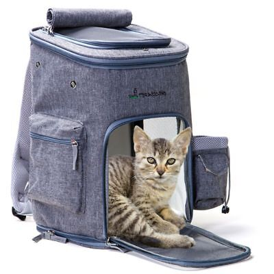Pet Dog Cat Soft-Sided Backpack Breathable Outdoor Travel Walking Carrier Bag