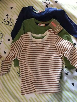 John Lewis 3 Pack Baby Boy Long Sleeve Tops 3-6 Months NWT