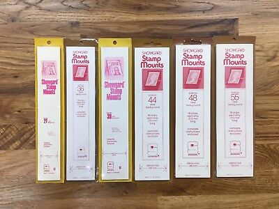 SHOWGARD clear stamp strip mounts 27, 36, 39, 44, 48, 56mm NEW