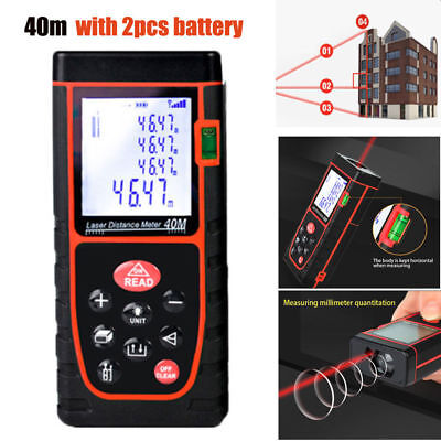 40m Digital LCD Laser Distance Meter Range Finder Measure Diastimeter Handheld