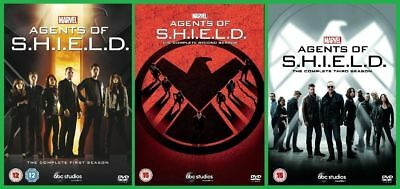 Marvel Series  1-3  Agents Of Shield Dvd Fast Uk  Dispatch New Sealed