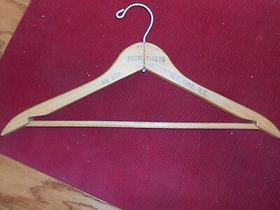 Vintage Wood Hotel Pierre New York, Ny 5Th Ave Coat Hanger Nice!