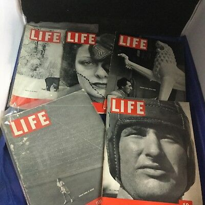 Life Magazine - Lot of 5 - 1937 - Antique - Rare - Collectible - Lot VO3186