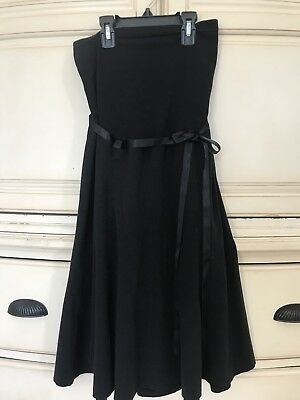 Motherhood Maternity Black Skirt With Belly Panel Size L