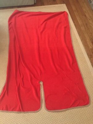 VIRGIN ATLANTIC Airline CABIN Wrap FLIGHT BLANKET Throw RED Sweet Dreams