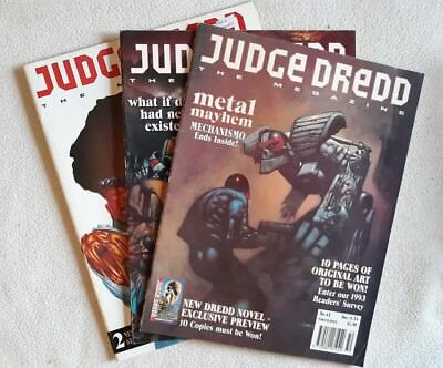 Judge Dredd Megazine Vol 2 #43, 44 & 45 ALL F - VF