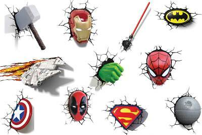 3D Light FX 3D Wall Lights - Marvel, DC and Star Wars