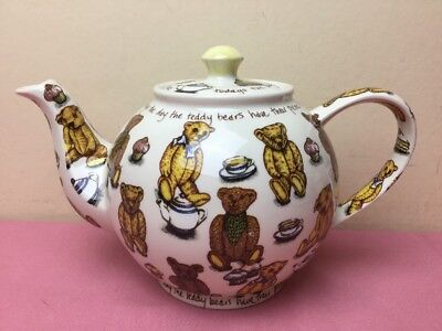 Cardew Designs Large Teapot Ted Tea Teddy Bears Picnic Unused Mint Condition