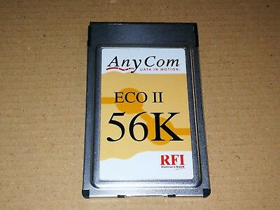 ANYCOM ECO II 56K FAX/MODEM PC CARD DRIVER FOR WINDOWS DOWNLOAD
