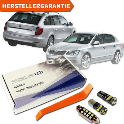 Skoda Superb 3T II LED Innenraumbeleuchtung Premium Set 18 SMD Weiss Canbus