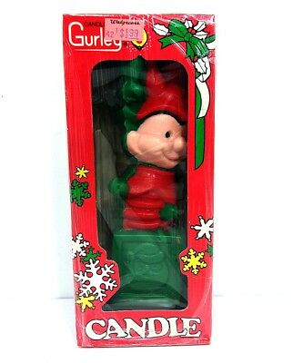 VTG 1993 Gurley Wax Candle Jack in the Box Christmas Court Jester Figurine USA
