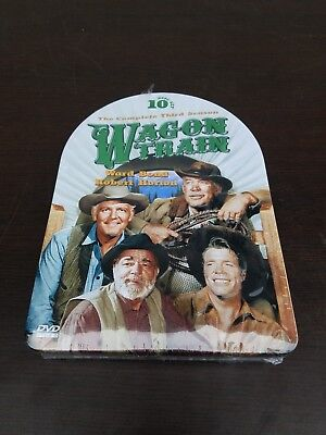 New Wagon Train: The Complete Third Season 3 TV (DVD 10-Disc Set, Tin Case) rare
