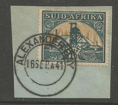 Union of South Africa Postmark Alexanderbay Cape 16.09.1941 on small piece