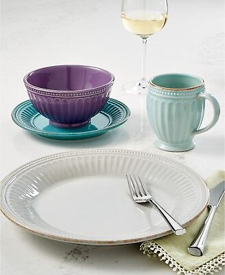 Lenox French Perle Groove Dinnerware Collection Plates, Bowls Mugs +++