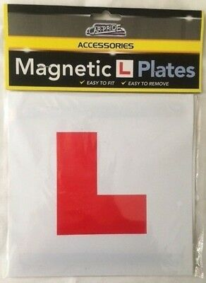 L Plate Fully Magnetic Exterior Car New Learner