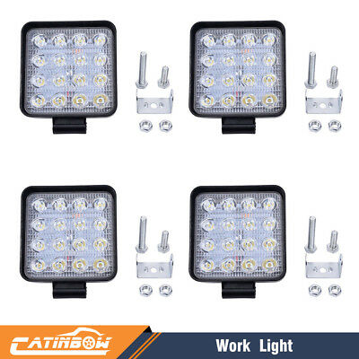 4pcs 48W LED Work Light Flood Spot Light for Off-Road ATV SUV Boat Jeep Truck