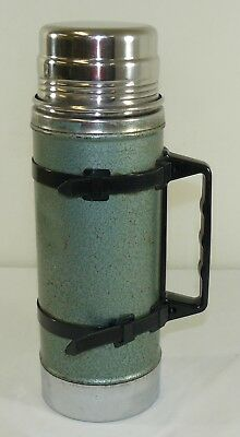 Aladdin Stanley Wide Mouth Vacuum Bottle Drink Thermos A-1357B Green With Handle