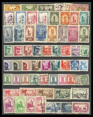 Morocco Postage Stamps - Mixed Collection 62 Diff. #513607