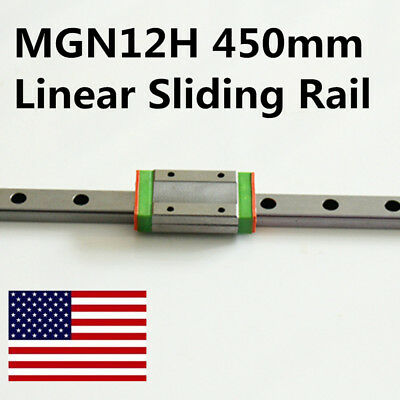 12mm Linear Rail Way MGN12 450mm With MGN12H Linear Carriage For CNC 3D Printer