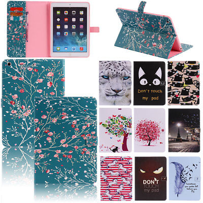 Smart Pattern Leather Wallet Case Cover For iPad 9.7 5th 234 Gen Mini Air 2 Pro