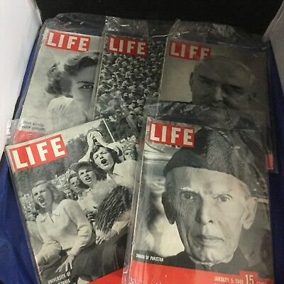 Life Magazine - Lot of 5 - 1948 - Antique - Rare - Collectible - Lot DQ4973
