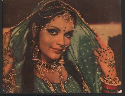 "Zeenat  Aman    COLOR  BOLLYWOOD   PRESS  PHOTO  SIZE  8.50 ""  X  11.00 """