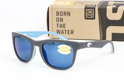 baaf09dc76 NEW COSTA DEL MAR COPRA SUNGLASSES Matte Grey Blue Mirror 580P Polarized  OCEARCH