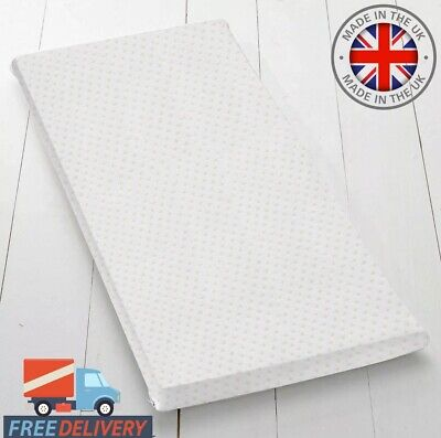 Quilted Baby COT MATTRESS Fully Breathable 120 X 60 X 5 CM Nursery Furniture