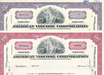 2 x American Viscose Corporation v. 1962/1963 Avtex, Monsanto, FMC