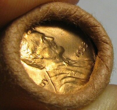 1953 P Obw Original Bank Wrapped Roll Bu Uncirculated Lincoln Wheat Cent Pennies