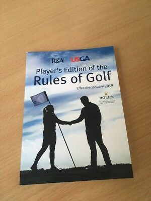 TWO COPIES of Players Edition Of Rules Of Golf 2019 : BRAND NEW