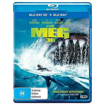 Meg, The (3D Blu-ray, 2018) (Region B) New Release