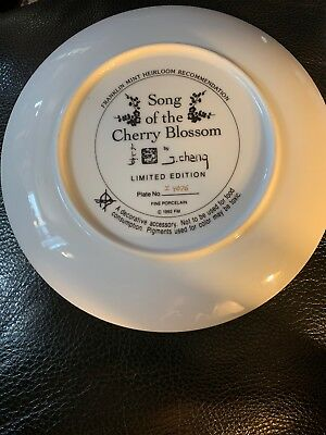 Franklin Mint Collectable Plate - Song Of The Cherry Blossom