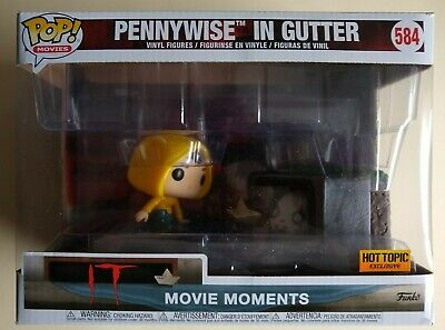 Funko Pop #584 Movie Moment IT Pennywise in Gutter Hot Topic Exclusive NIB