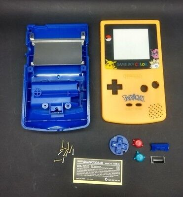 Pokemon Pikachu Edition Replacement Gameboy Color Shell+Buttons+Lens