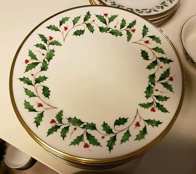 Lenox Holiday China Salad/Dessert Plates (Set of 4)