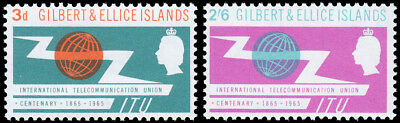 Gilbert & Ellice Islands Scott 87-88 - Intl. Telecom. Union (1965) Mint NH VF C