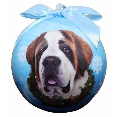 Saint Bernard Shatterproof Ball Dog Christmas Ornament