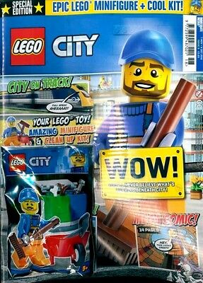 Lego City Magazine Issue #9 - 2018 ~ New With Mini Figure & Cool Kit ~