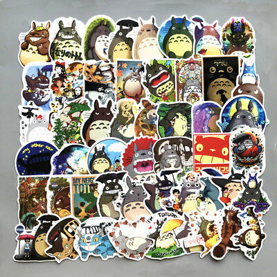 50pcs Cute Cartoon Anime Totoro Sticker Decals for Skateboard Luggage Laptop Car