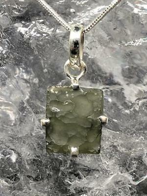 Moldavite Sterling Silver Pendant ~ High Vibration~Transformational Stone ~3.5gm