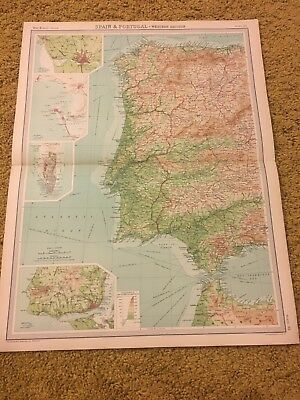 old world atlas Plate Map Spain & Portugal Western Section