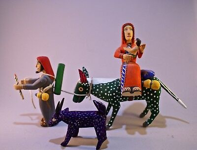 Oaxacan Wood Carving- Joseph and Mary - Mexican Folk Art