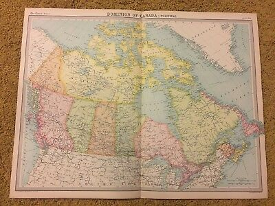 old world atlas Plate Map Dominion Of Canada