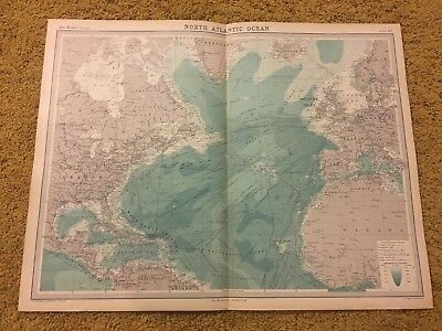 old world atlas Plate Map North Atlantic Ocean