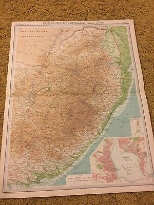 old world atlas Plate Map Cape Province Transvaal