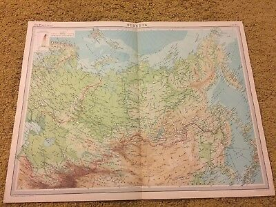 old world atlas Plate Map Siberia
