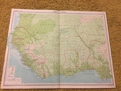 old world atlas Plate Map West Africa