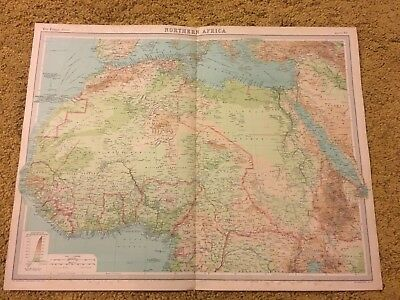 old world atlas Plate Map Northern Africa