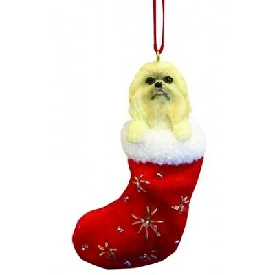 Pekingese Santa's Little Pals Dog Christmas Ornament